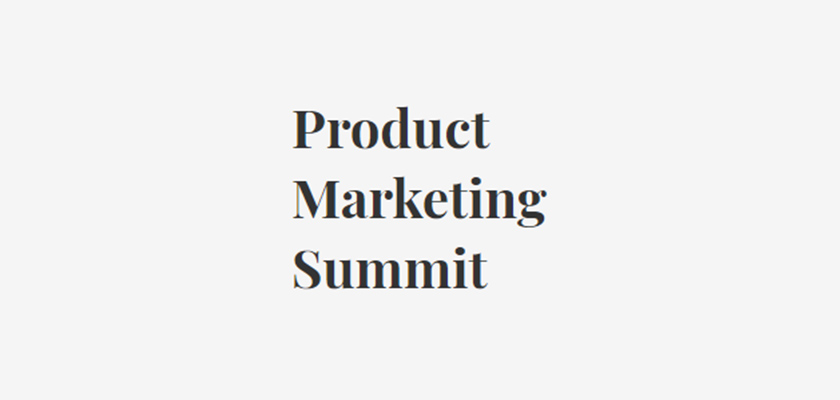 Product Marketing Summit 2019